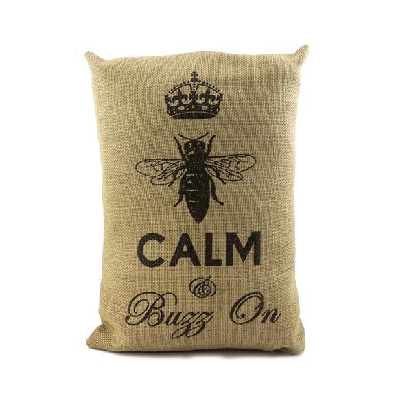 Calm & buzz on pillow