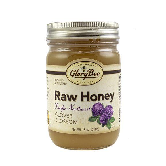 Raw honey clover blossom